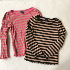 Baby gap set of two ribbed cotton shirts 3T